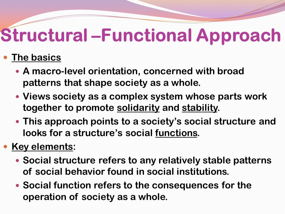 Structural –Functional Approach