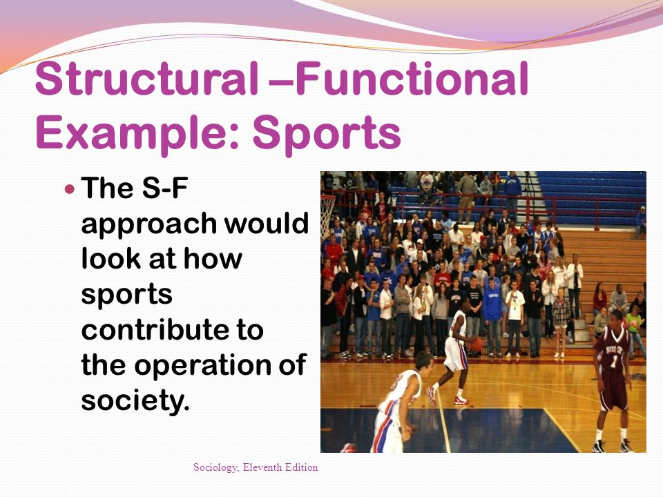 Structural –Functional Example: Sports