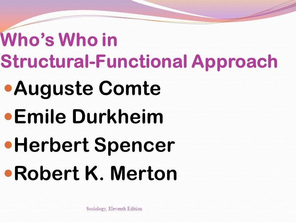 Who's Who in Structural-Functional Approach