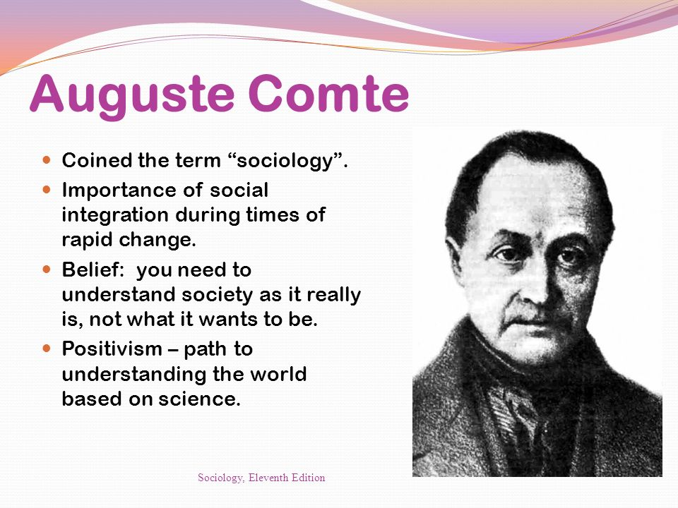 Auguste Comte Coined the term sociology .