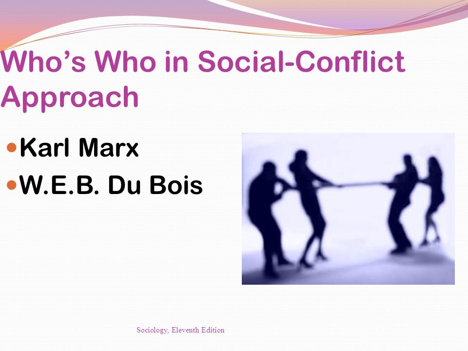 Who's Who in Social-Conflict Approach