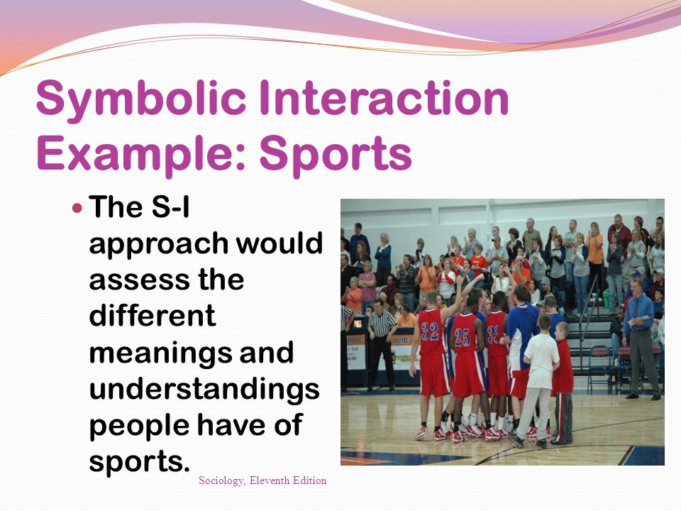 Symbolic Interaction Example: Sports
