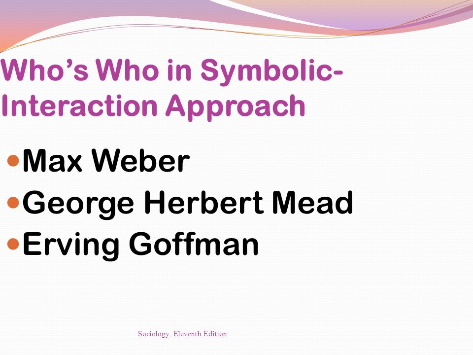 max weber and symbolic interaction ism Social theorists have produced a collection of theories that discuss the many facets of conflict such dominant classical and social theorists include karl marx, .