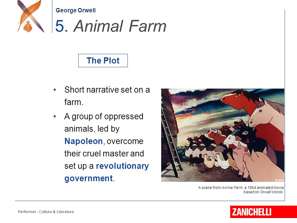 a plot analysis of animal farm by george orwell Since george orwell's 1945 novel animal farm is such a complex work, you can better understand its themes and plot devices with a list of study and discussion questions.