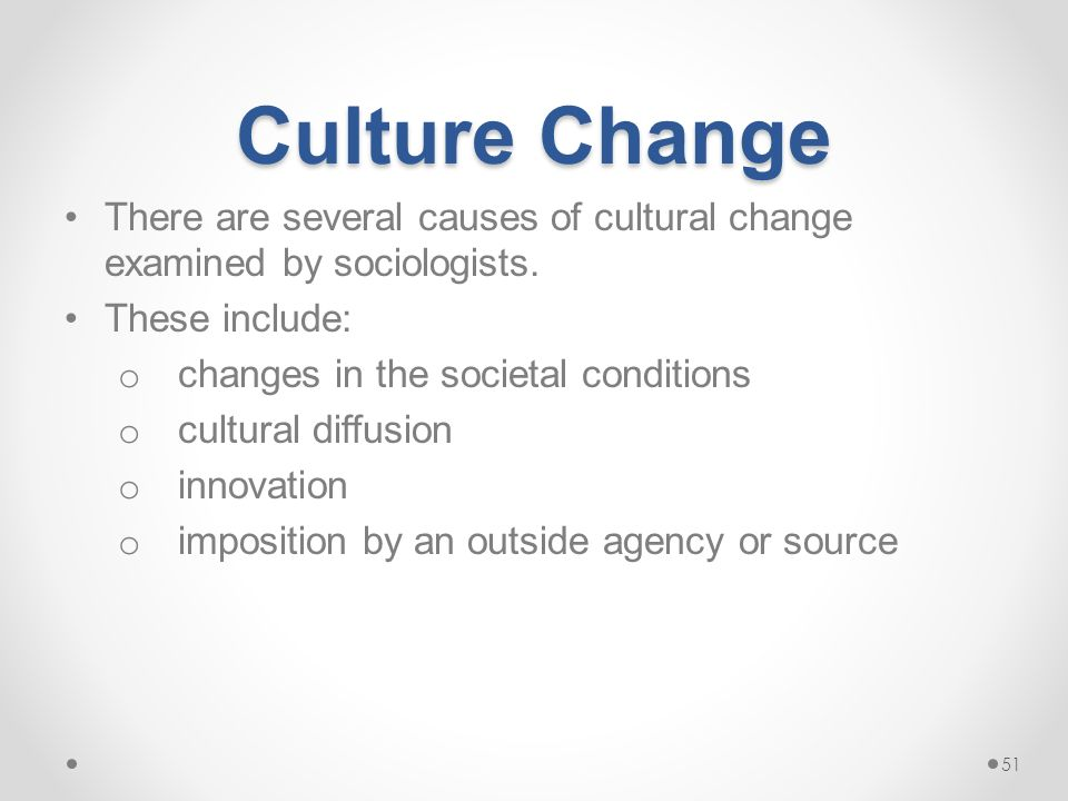 causes of cultural change pdf