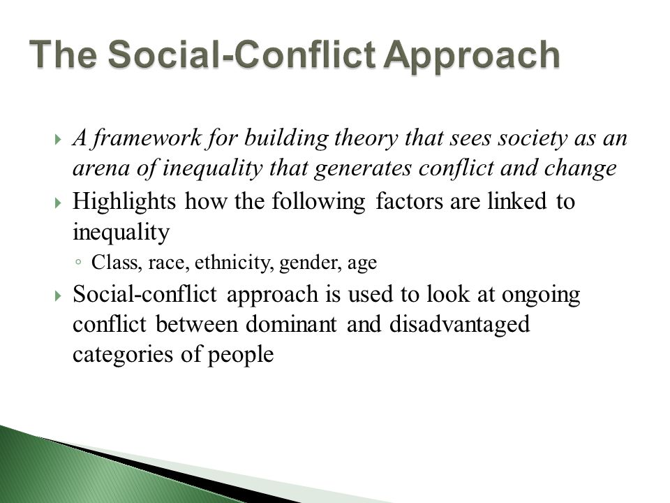 conflict theory in sociology pdf