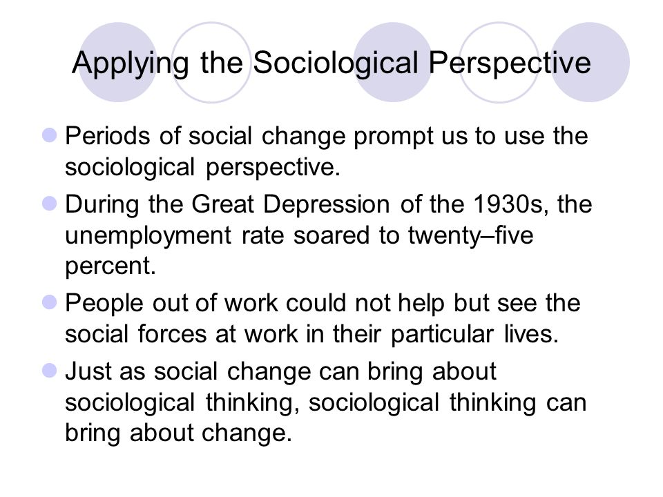 sociological perspective on unemployment The three sociological perspectives examined in earlier chapters continue to offer insights that help us understand the economy, including the nature of work on which any economy rests.