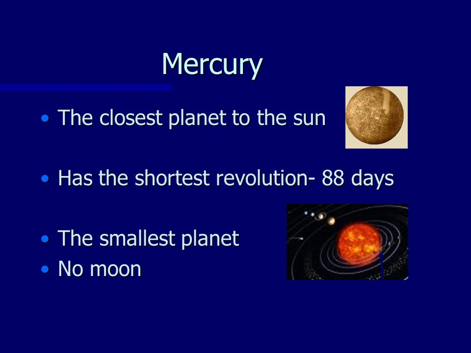 Order of the Planets from the Sun - ppt video online download