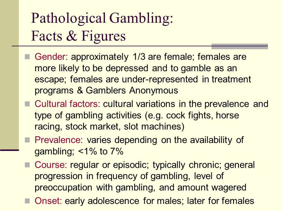 Facts on pathological gambling atlantic casino chip city playboy