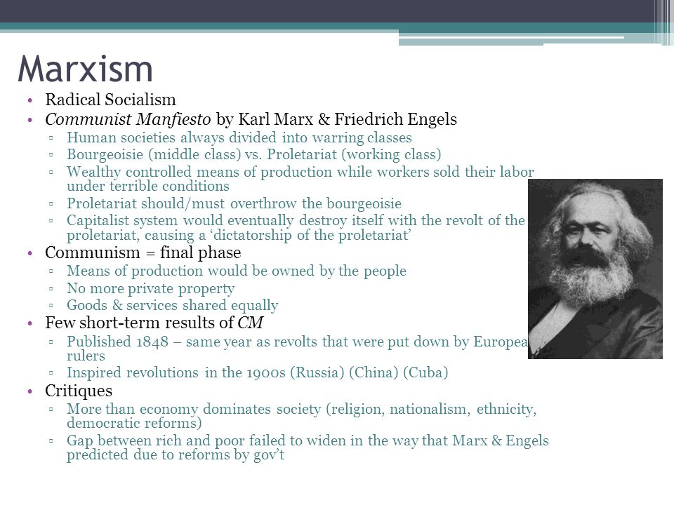 karl marx established idea of communist society in response to capitalism Marx's analysis of capitalism for marx, the idea of the means of production is a crucial economic category the means of production include nearly everything needed to produce commodities, including natural resources, factories, and machinery  alienation in capitalist society we can now make clear marx's claim that capitalism is.