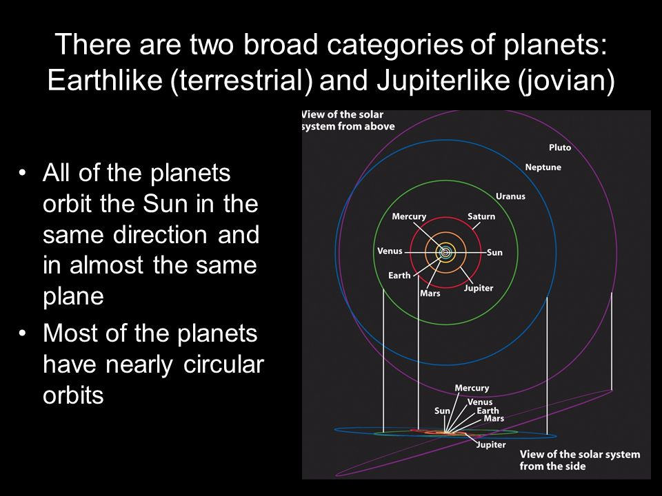 list the differences between terrestrial and jovian planets - photo #22
