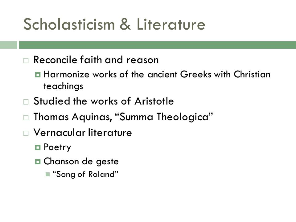 scholasticism in religious architecture Concentric: literary and cultural studies 331 march 2007: 75-85 nervous tracery: modern analogies between gothic architecture and scholasticism.