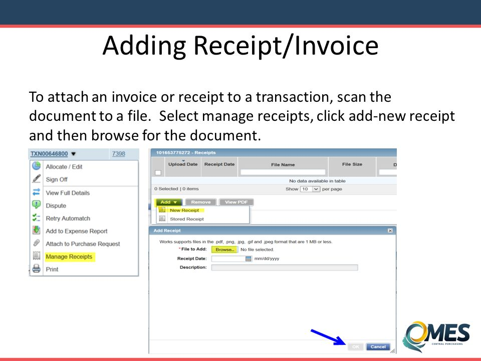 Download Rent Receipt Format State Of Oklahoma Office Of Management And Enterprise  Ppt Download Money Receipt Design with Sample Acknowledgement Receipt Word Adding Receiptinvoice Dealer Cost Vs Invoice Word