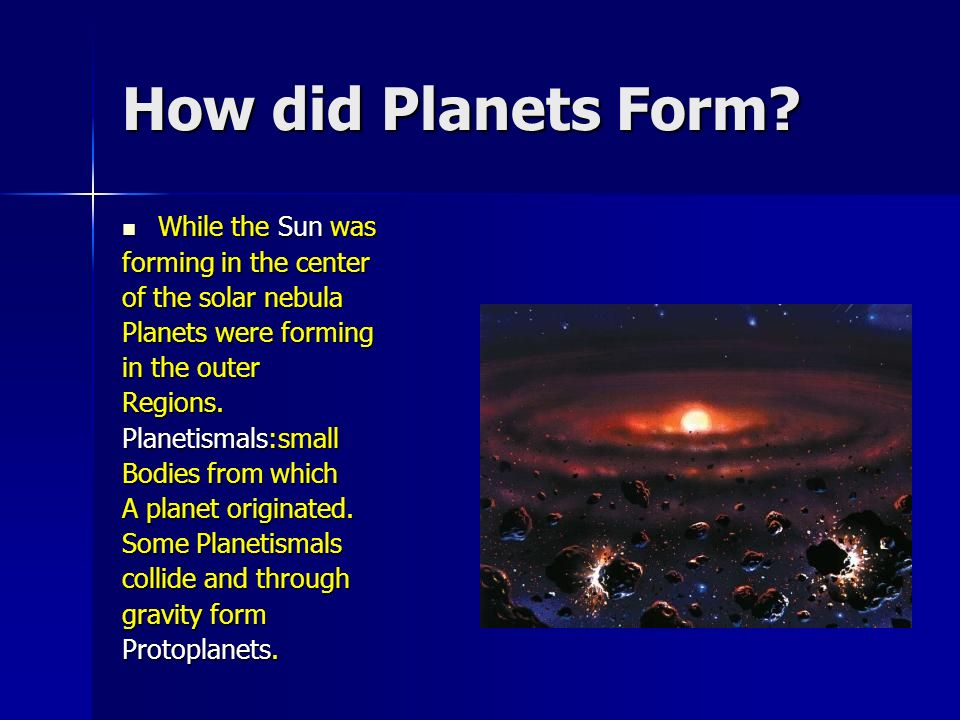 how did the planets and moons form - photo #37
