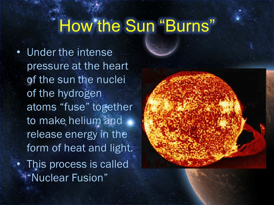 How the Sun Burns