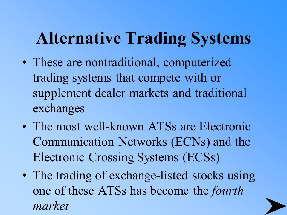 Definition of electronic trading system