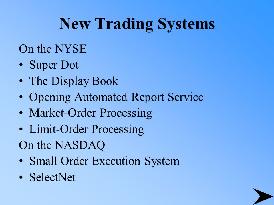 Super display book is the automated trading system for the