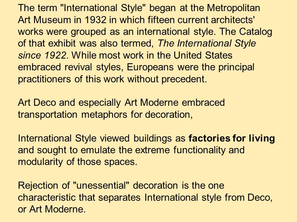 Current Architects modernism from europe and the international style - ppt video