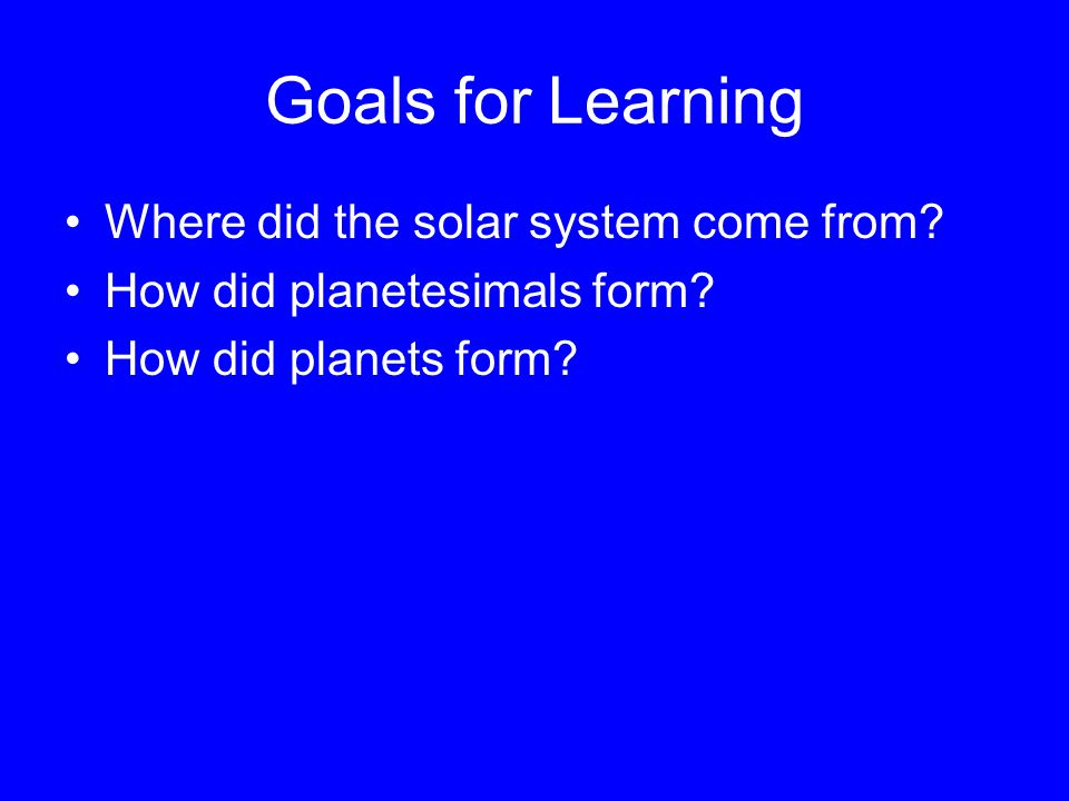 Formation of the Solar System (Chapter 8) - ppt download