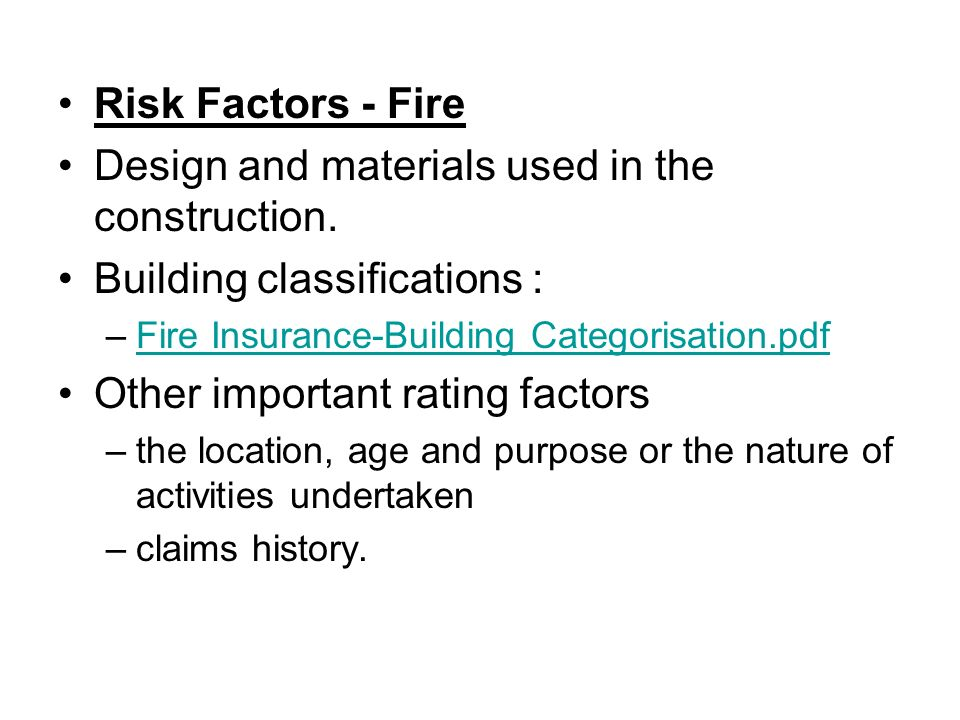 General insurance ppt download for Insurance construction types
