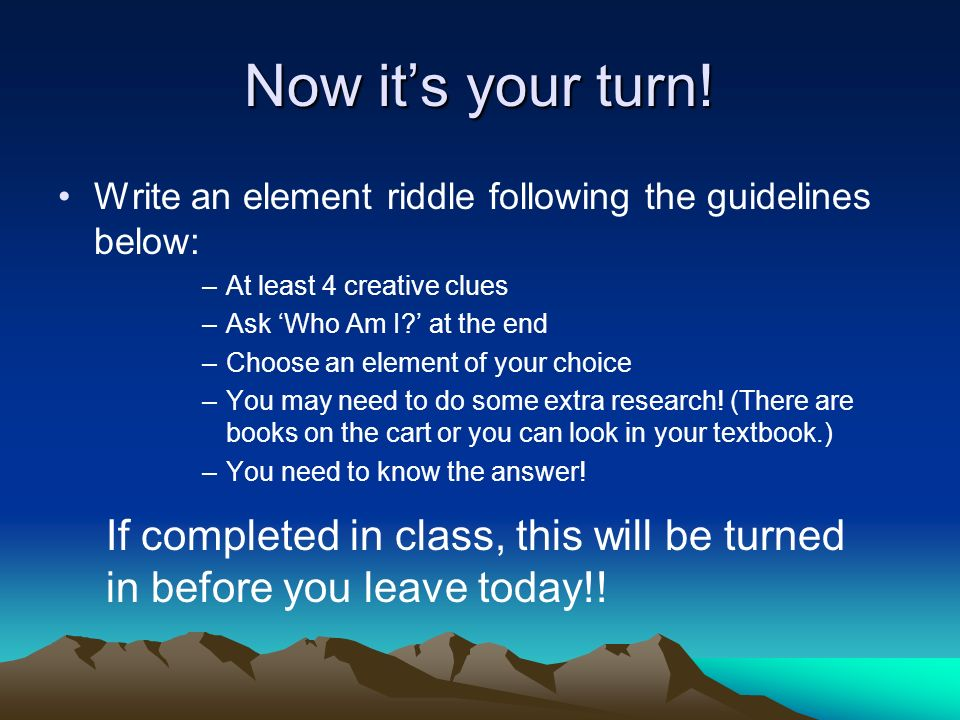 Element riddles who am i ppt video online download write an element riddle following the guidelines below at least urtaz Images