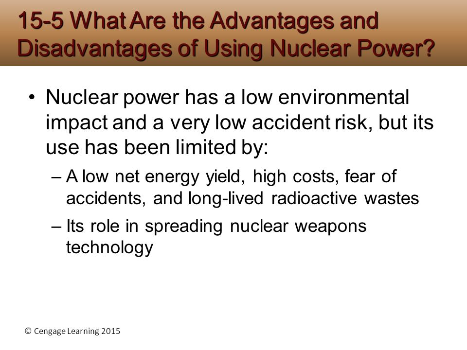the advantages of using nuclear energy as a source of power Nuclear energy is a highly sought after energy source,  the pros and cons of using nuclear energy,  advantages and disadvantages of nuclear power.