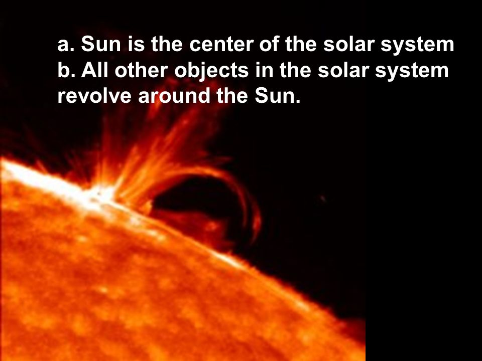 sun as center of solar system - photo #32