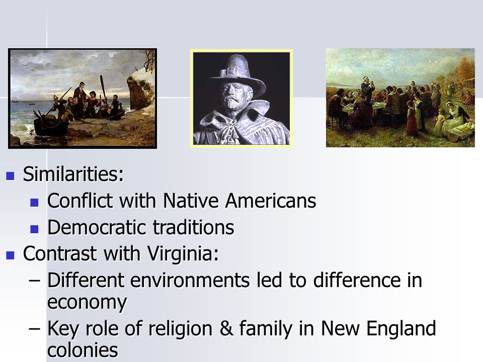 Colonial Development Similarities And Difference : New england or northern colonies ppt video online download