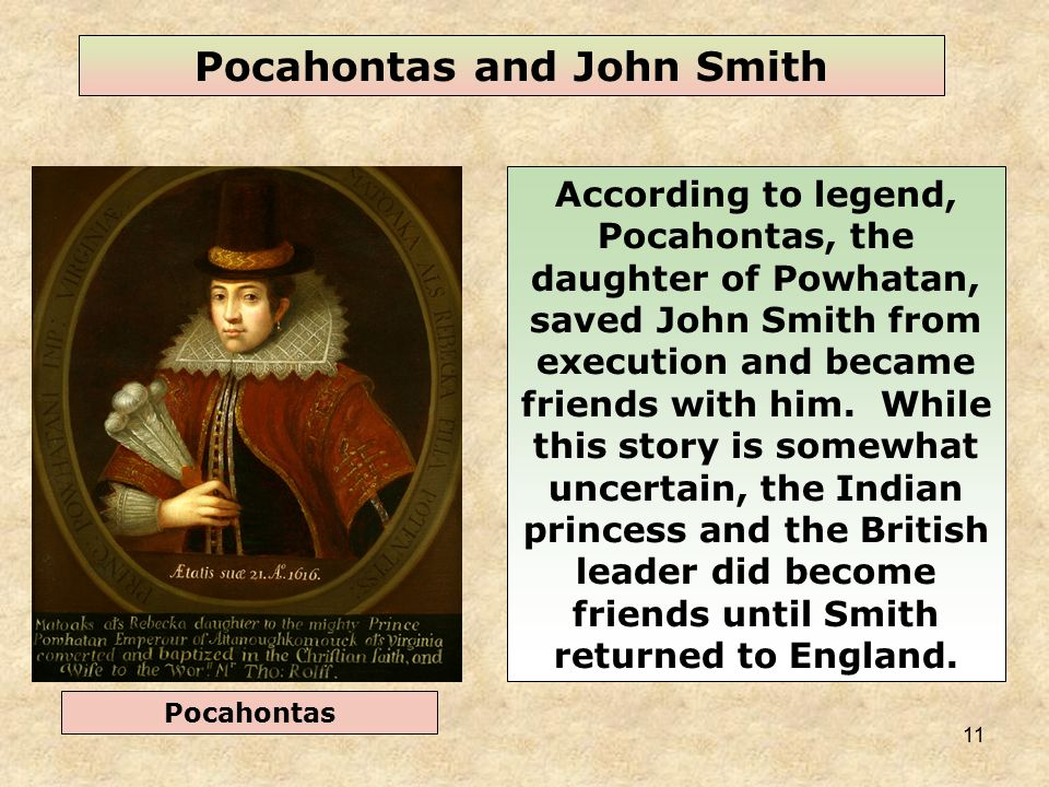 did pocahontas and john smith have a relationship