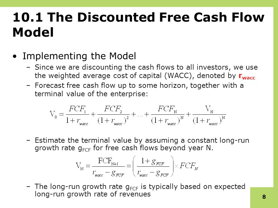 stock valuation free cash flow ppt download