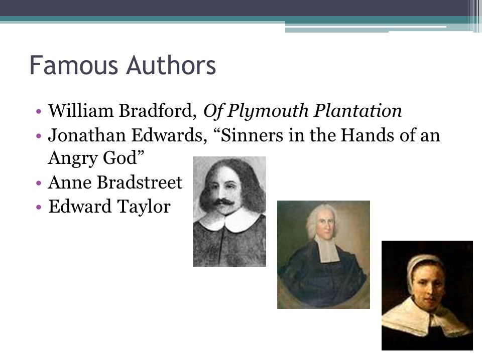 an examination of puritan philosophy in bradfords on plymouth plantation Of plymouth plantation book passes the council's examination: clearly bradford has created a of plymouth plantation book 2, chapter 12 litcharts llc.