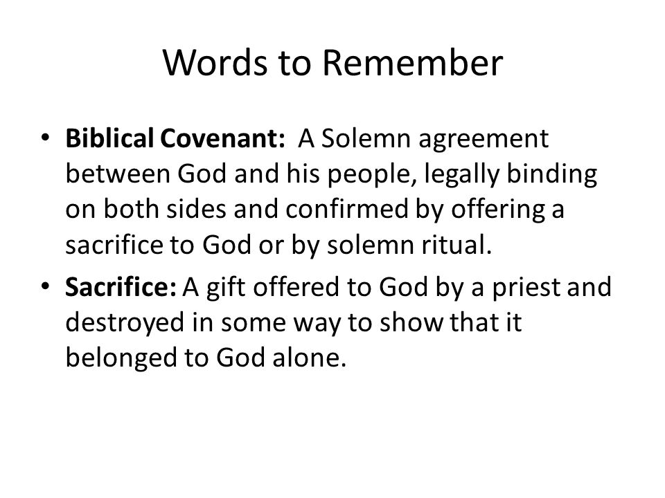 a covenant in biblical and legal