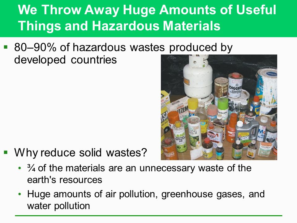Solid and hazardous waste ppt video online download for Useful things from waste