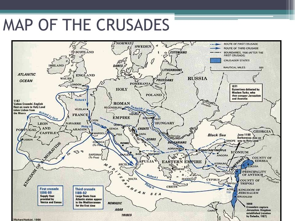 the significance of the crusades In addition, some crusades have been named, including the albigensian crusade, the baltic (or northern) crusades, the people's crusade, and the reconquista crusader territory upon the success of the first crusade, the europeans set up a king of jerusalem and established what is known as the crusader states.
