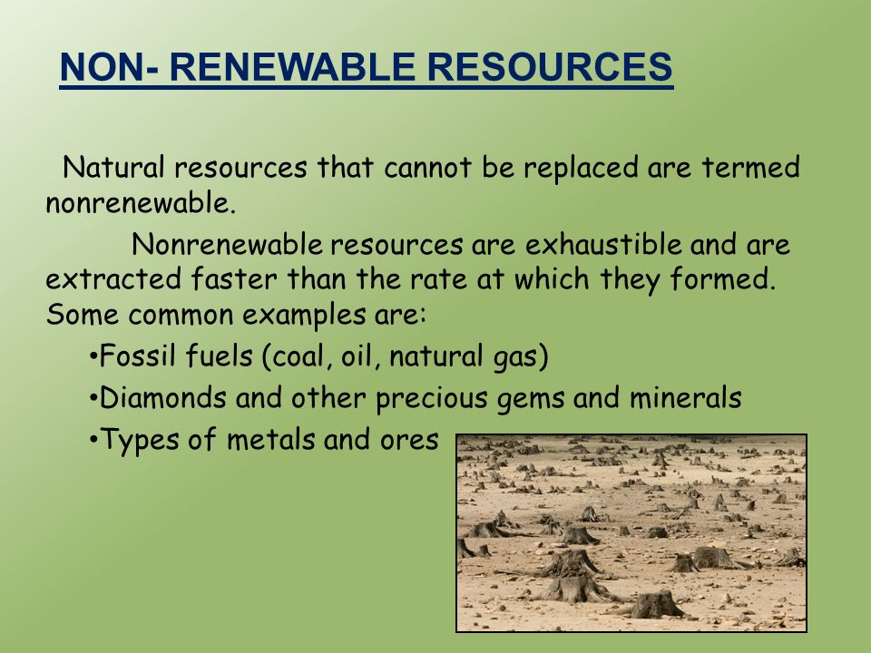 Non Renewable Resources Examples Natural Gas