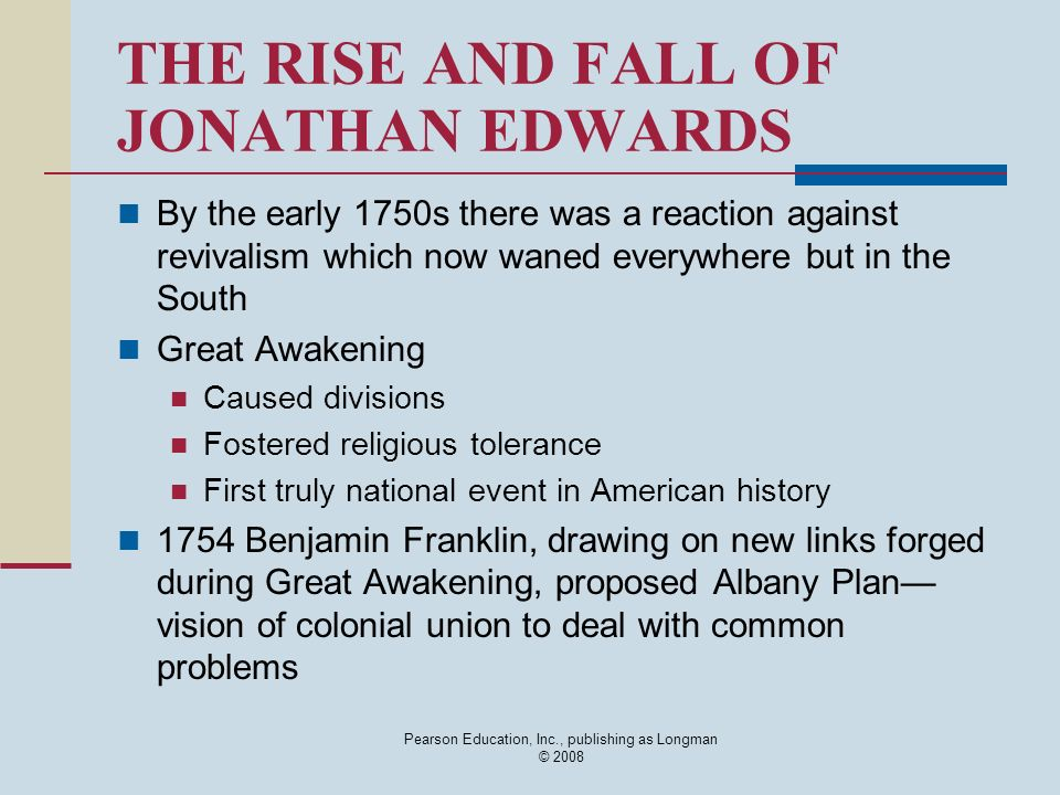 Benjamin Franklin vs Jonathan Edwards