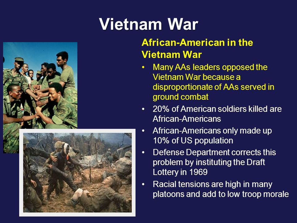 african americans in vietnam war David coffey african americans have served in every war waged by the united states throughout the nation's history, african american soldiers, sailors, and marines.