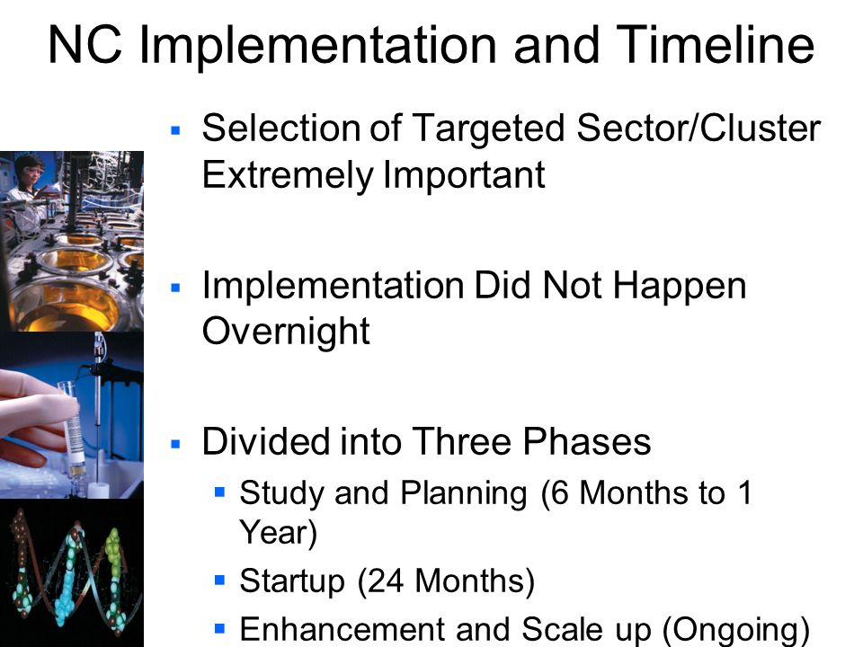 NC Implementation and Timeline