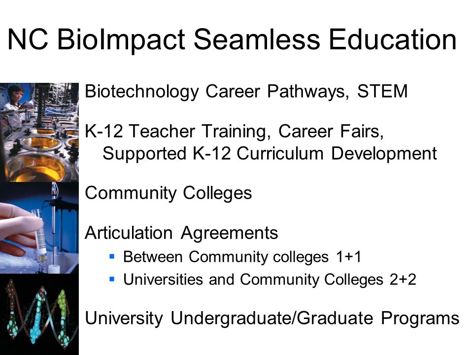 NC BioImpact Seamless Education