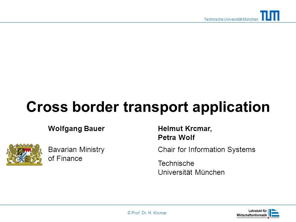 Cross border transport application