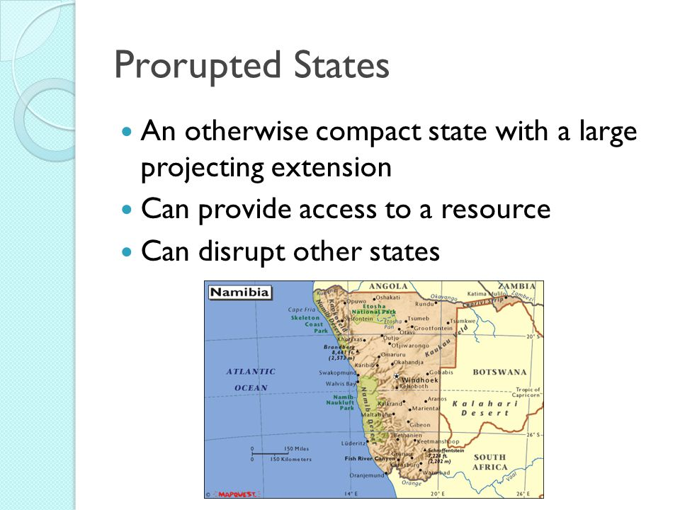 prorupted state