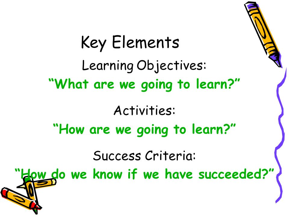 how to create a criteria in learning