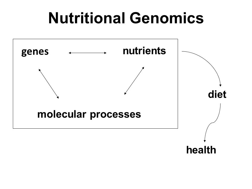 Nutritional Genomics genes nutrients diet molecular processes health