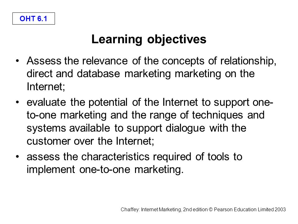 relationship between database marketing and direct