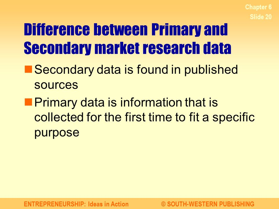 Difference between Primary and Secondary market research data