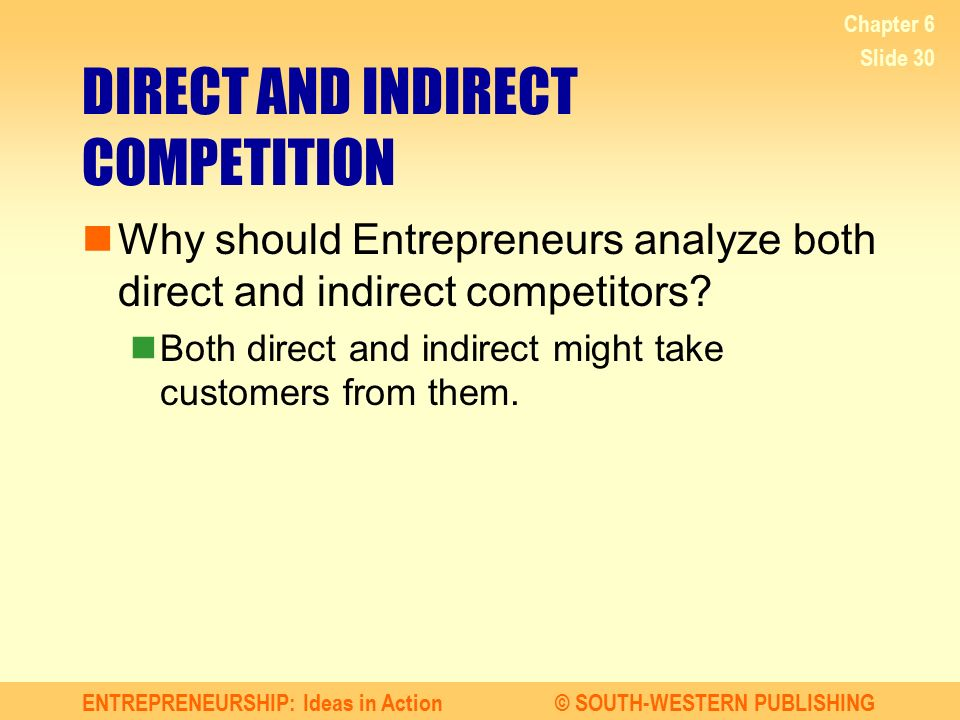 DIRECT AND INDIRECT COMPETITION
