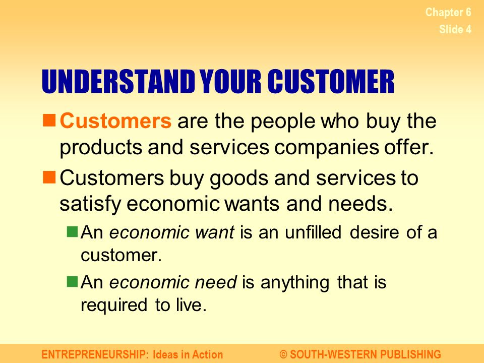 UNDERSTAND YOUR CUSTOMER