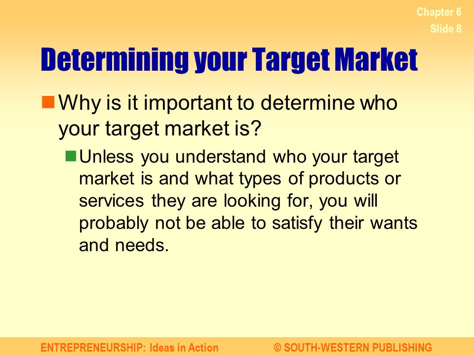 Determining your Target Market