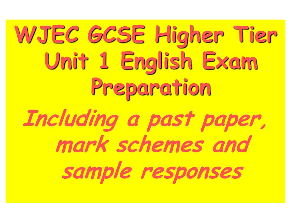 wjec gcse english literature unit 1 past papers Gcse english literature past papers gcse (9-1)  english literature gcse - wjec view the wjec gcse english literature  unit 2: the study of drama and.