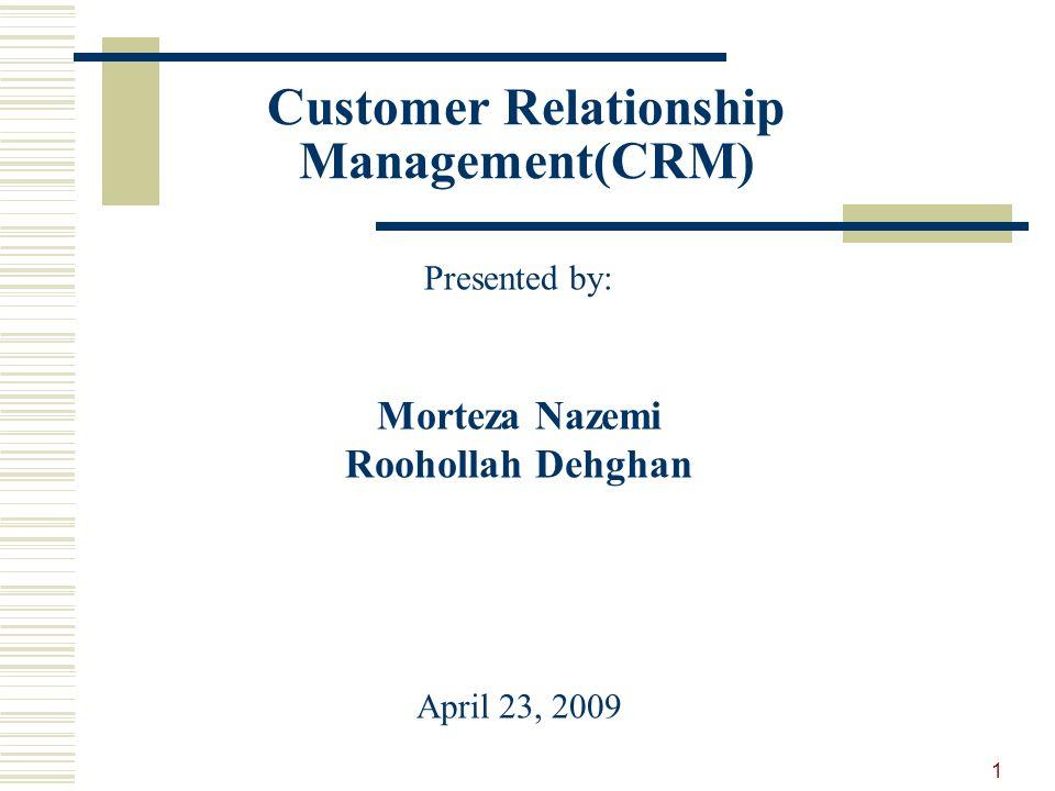 customer relationship management definition pdf